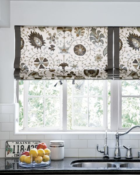 Flat roman fabric shades 15282 samara stone smith and for Smith and noble shades