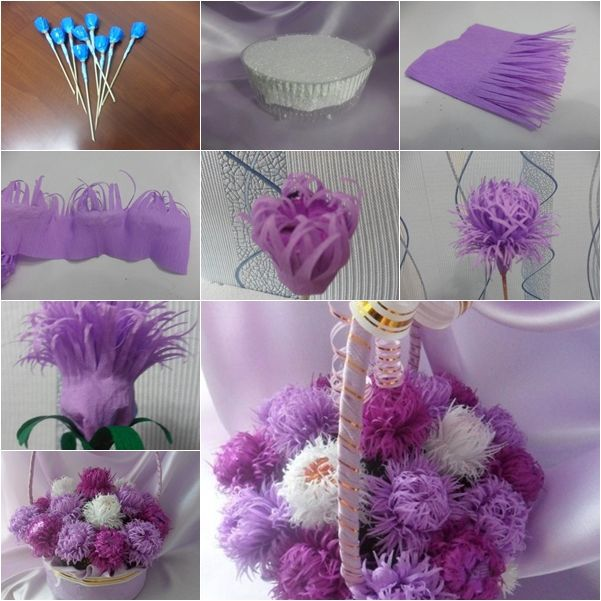 DIY Chocolate Aster Flower Bouquet.. these look like fun to make http://www.fabartdiy.com/diy-sweet-aster-flower-bouquetdiy-chocolate-aster-flower-bouquet/