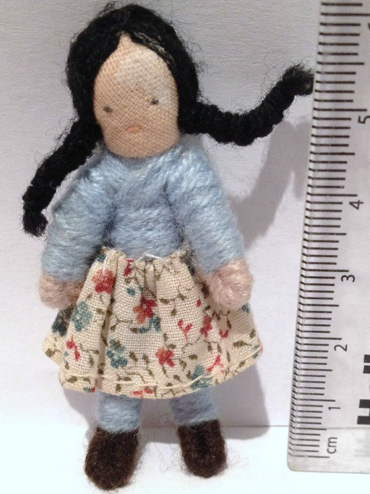 Vintage Dolls house 1970s Halfpenny Girl Sister Bendable Doll Figure Lundby Size | eBay