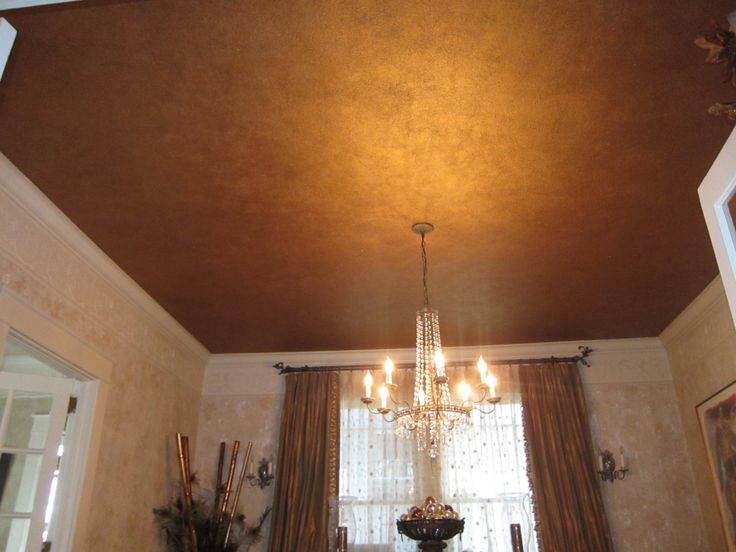 Fools copper ceiling with mica flakes  powders  wwwlaurengainescom  Designs In Paint