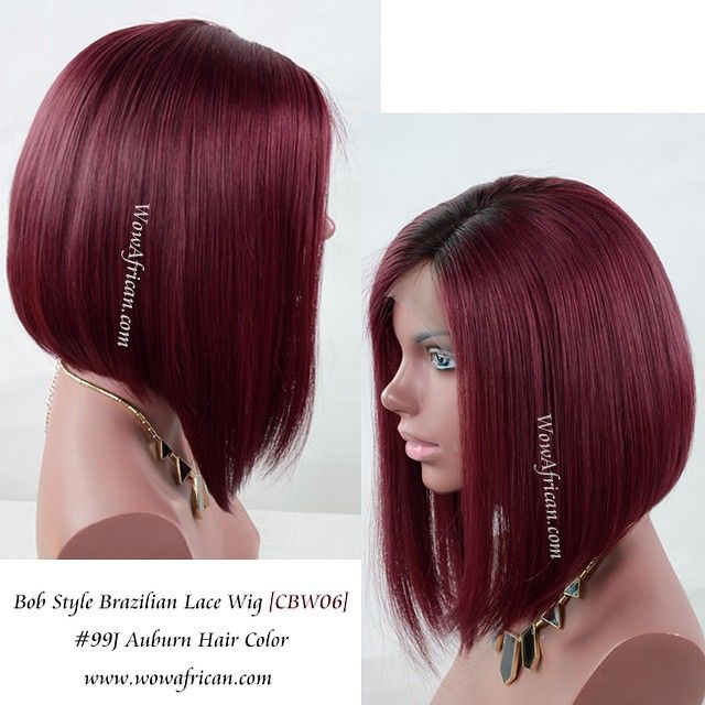 """#inspiration ️️️Red Bob wigs! CBW06 Color: #2/99j Yay or Nay? Get $30 off using coupon """"bob30"""" www.wowafrican.com #bob #redcolor #ombre #shorthair #lacefrontwig #haircut #summerhair #hot"""