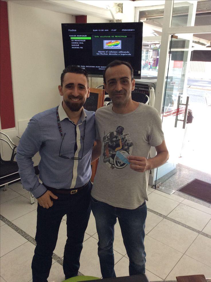 """O noso amigo Dany, ex-Delegado do Diario """"El Mundo"""" e o diario deportivo """"Marca"""" para a zona da Coruña, xa ten a súa tarxeta de Membro VIP. E tí, a que esperas para ser VIP?  #galicia #galiciadescontovip #VIP #faitemembro"""