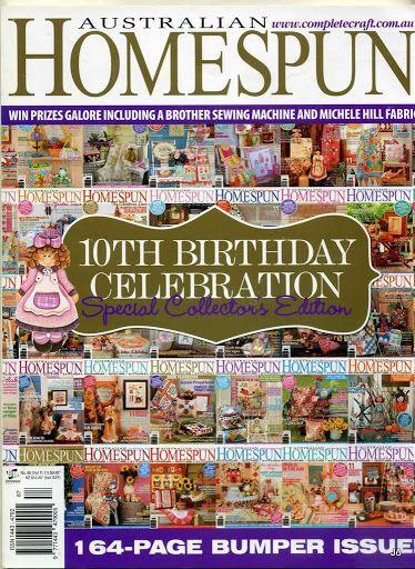 Australian Homespun-No.90 10th Birthday Celebration-Special Collector's Edition - Joelma Patch - Álbumes web de Picasa