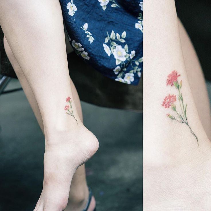Delicate Carnation tattoo