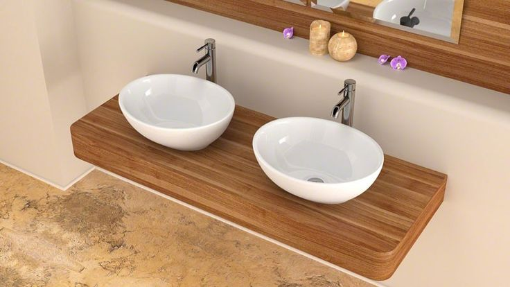 Small Counter Top Basins : ... small bathroom or cloakroom. Ceramic counter top basin ideas