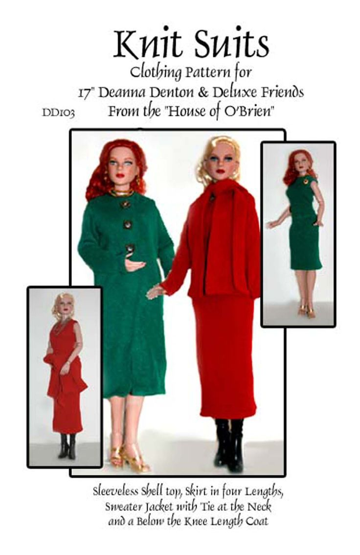 "pattern for suit in two styles to fit 17"" fashion dolls"