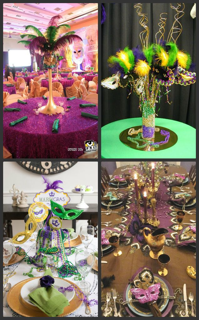 Table Setting Examples, mardi gras quinceanera