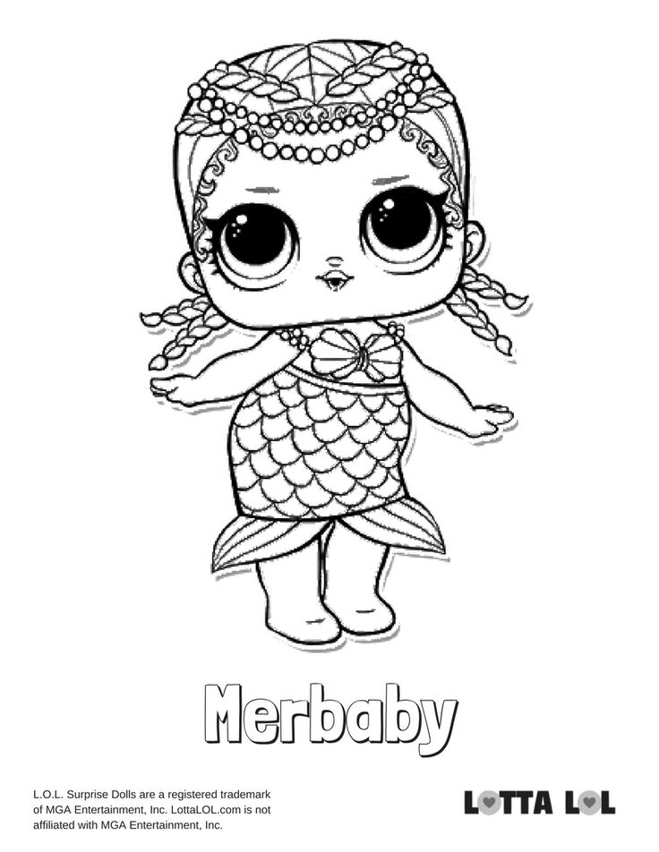 Merbaby Coloring Page Lotta LOL Color pictures Lol