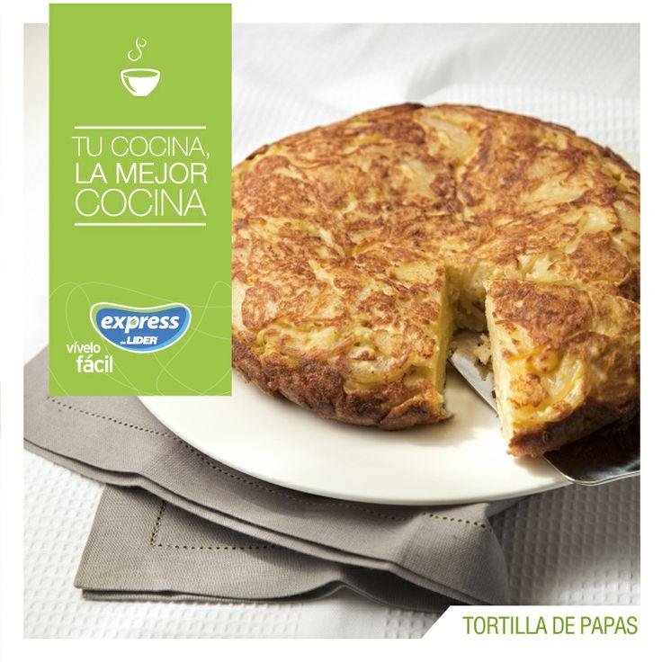 Tortilla de papas. #Recetario #Receta #RecetarioExpress #Lider #Food #Foodporn