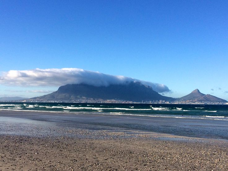 view of Table Mountain from Blaauwberg beach