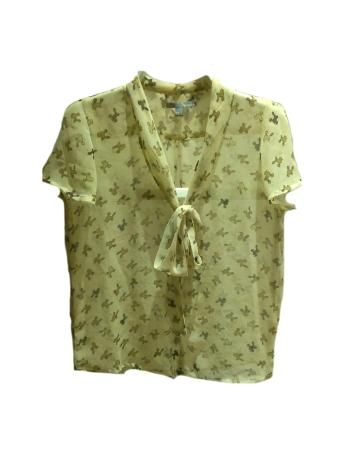 Camisa beige retro estampada de Sfera