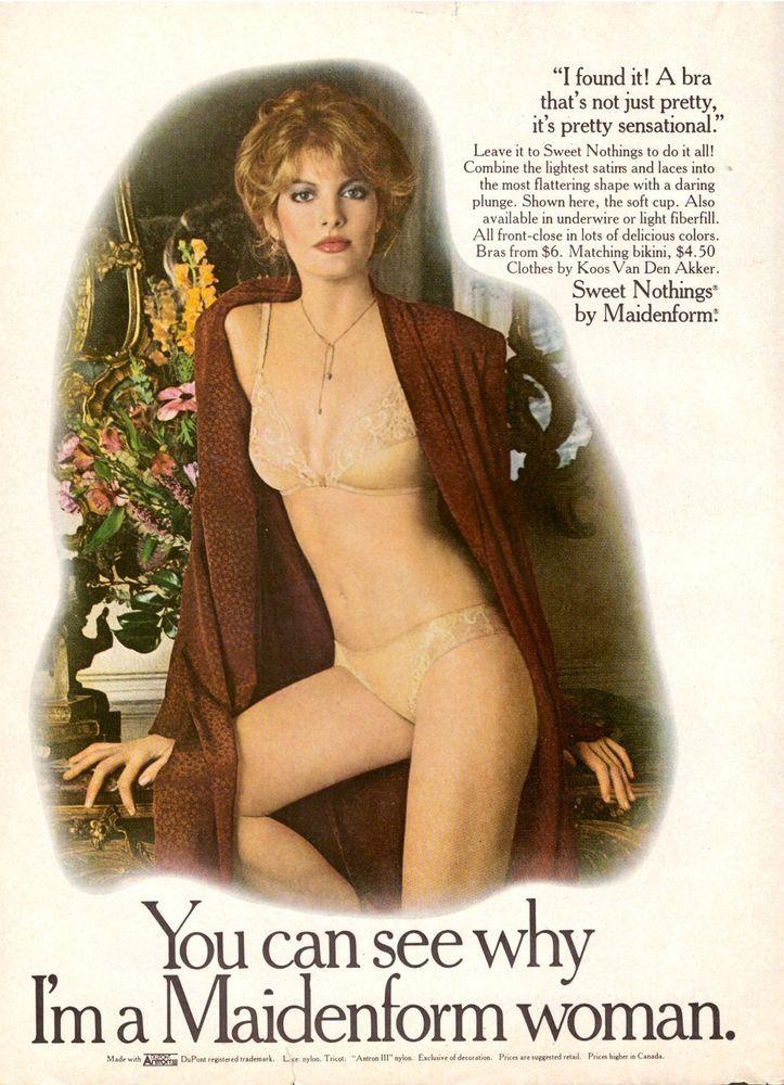 1979 MAIDENFORM Rene Russo Sexy Lingerie Print Advertisement Ad Vintage VTG 70s | eBay