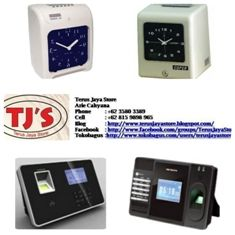 1. Electronic Time Recorder (Mesin Absensi Kartu) : Merk & Type : - Time Tech KL 3300 - Time Tech KL 6600 - Cooper S 260   2. Fingerprint (Mesin Absensi Sidik Jari) : Merk & Type : - Time Tech F 10 - Time Tech T 88 - Time Tech T 66 - TimeTronic FP 900   Hubungi :   Terus Jaya Store Arie Cahyana  Hp: 08159898965 Email : arie_cahyanas@ymail.com  Web      : http://www.google.com/+TerusJayaStoreArieCahyana/  Blog     : http://terusjayastore.blogspot.com/