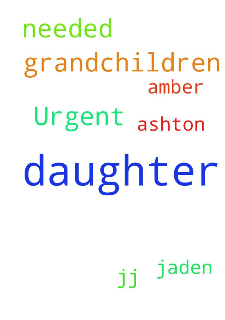 Urgent prayers needed for daughter and grandchildren - Urgent prayers needed for daughter and grandchildren amber JJ Jaden Ashton Posted at: https://prayerrequest.com/t/JMt #pray #prayer #request #prayerrequest