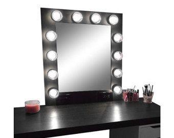 Items similar to Homemade Vanity Mirror! on Etsy