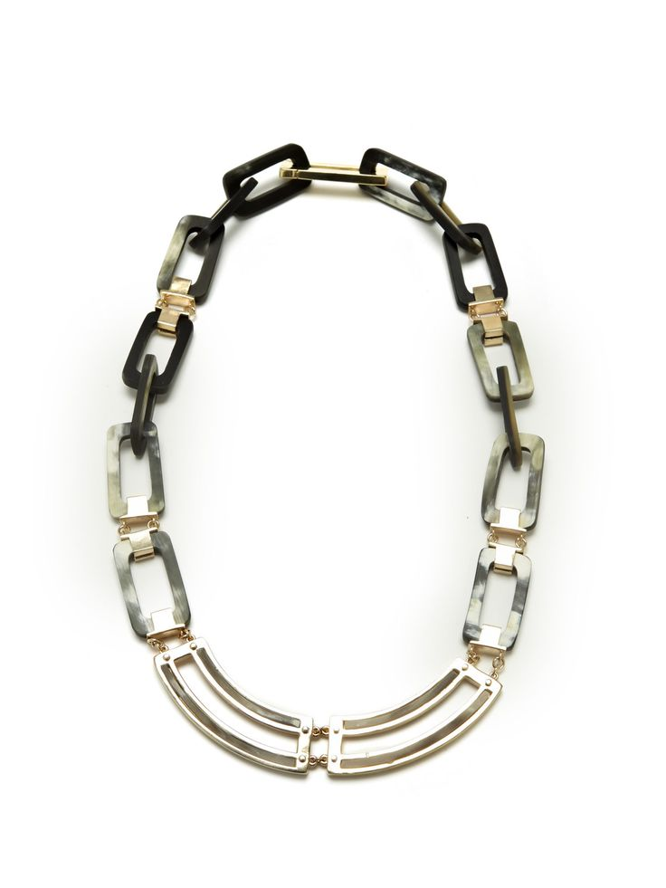 Maiyet Mixed Centre Horn and Metal Short Necklace