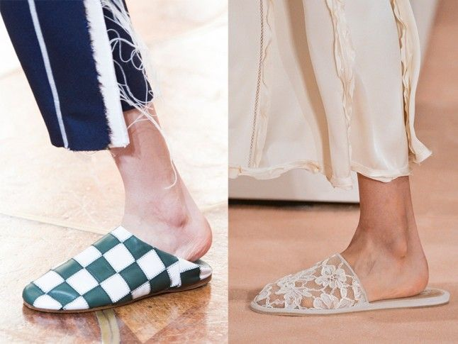 Spring 2016 Trends Report: The Best Women's Fashion Trends For SS16   Marie Claire. Flat Mules. Acne, Balenciaga.