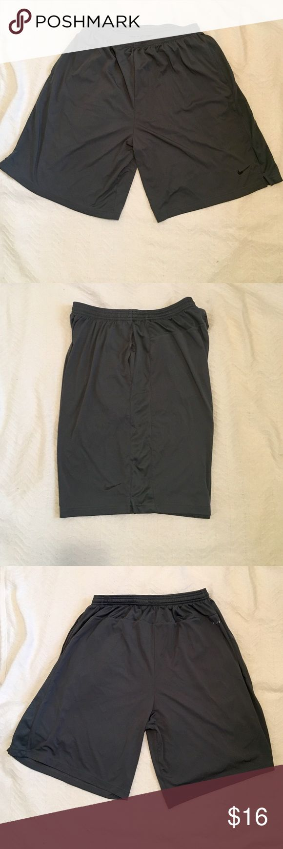 Nike Dri-Fit Mens Shorts These Nike grey Dri-Fit shorts are in excellent used condition. Nike Shorts Athletic
