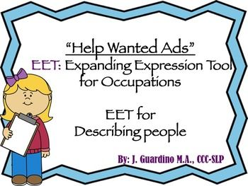 Help Wanted Ads EET Expanding Expression Tool for People