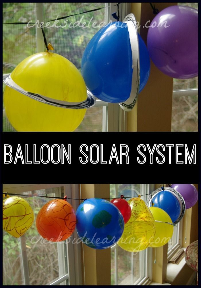 Astronomy Project: Make a solar system model with balloons. Easy peasy.