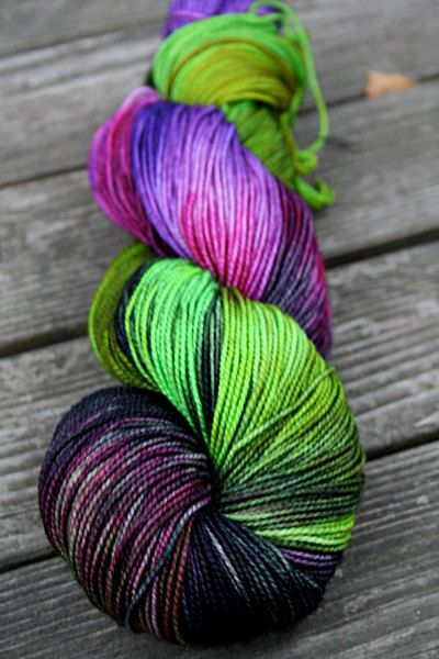 Superwash Merino Sock Yarn- Kettle Dyed. this particular yarn has sold, but blissful knits and dyeworks on etsy has other beautiful yarns and fibers