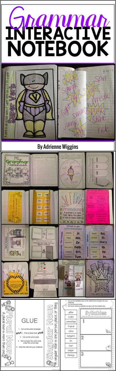 grammar interactive notebook - love all the flaps, foldables, and pockets!