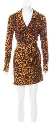 Reformation Animal Printed Mini Dress