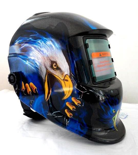 light welding electrode Black mask all automatic solar power supply Welding helmet The eagle helmet automatic
