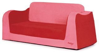 Little Sofa/Sleeper, Red - contemporary - kids chairs - by P'kolino - perfect for sleepovers