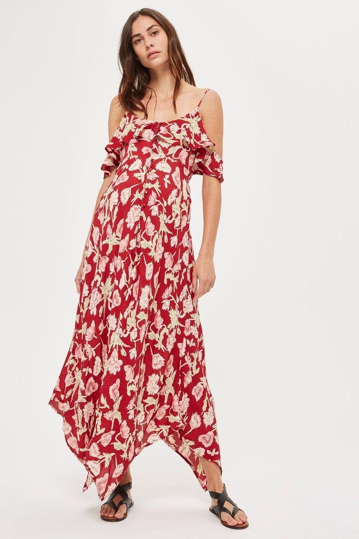 MATERNITY Floral Handkerchief Maxi Dress | Topshop
