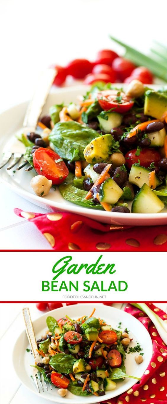 This Garden Bean Salad is perfect as a barbecue side dish, lunch, or even hearty enough for dinner! Plus it's easy to make and easy on the budget! #ad | Salad Recipe | Bean Salad Recipe | Summer Recipe | Summer Salad | Potluck Recipe