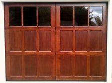 9x7 wood overhead carriage house garage door amanadoors model 104w6