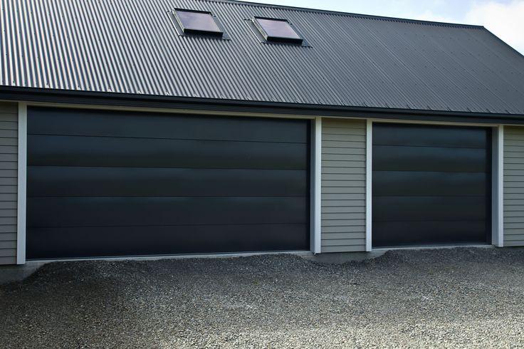 Dominator Sierra Flat Panel Sectional Door - Powder Coated Windsor Grey