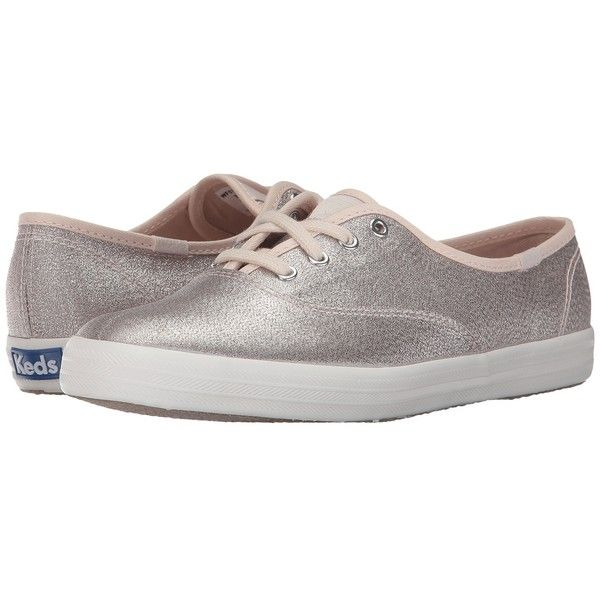 Keds Champion Lurex (Champagne) Women's Shoes (165 BRL) ❤ liked on Polyvore featuring shoes, champagne shoes, off white shoes, vintage white shoes, lace up shoes and laced shoes