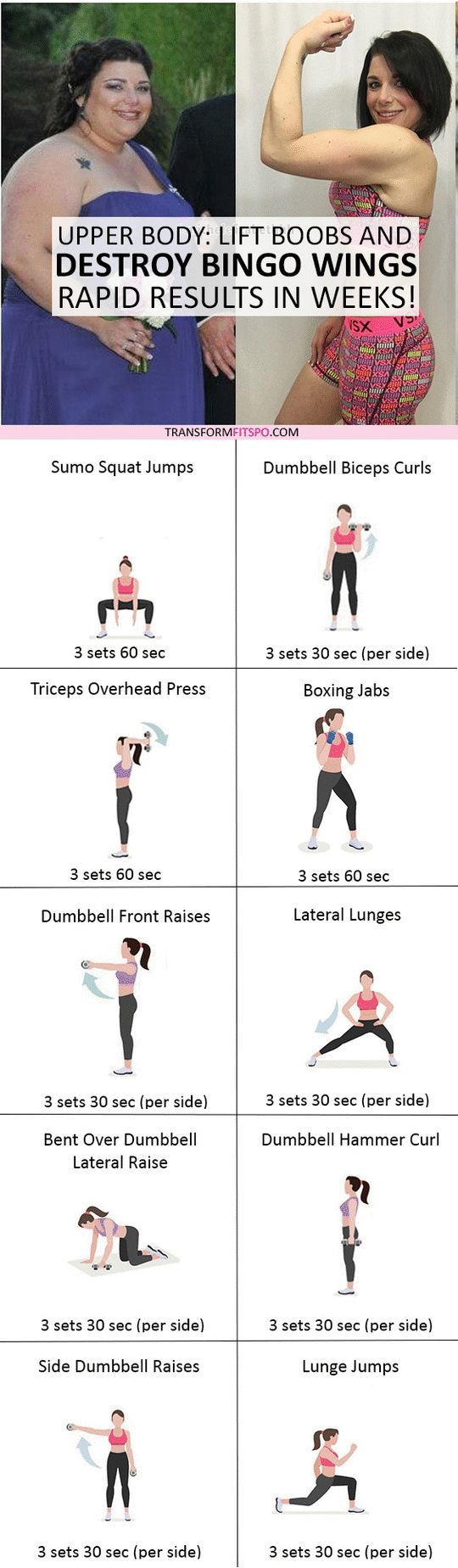 #womensworkout #workout #femalefitness Repin and share if this workout destroyed your bingo wings! Click the pin for the full workout.