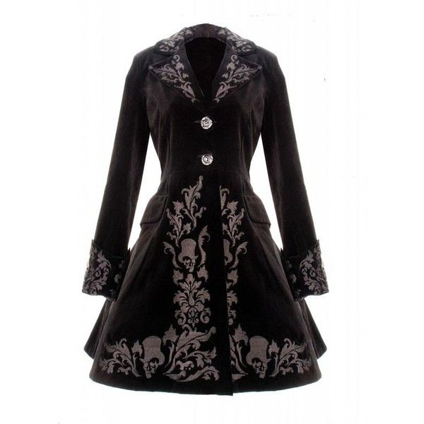BLACK COAT SPIN DOCTOR VINTAGE GOTHIC STEAMPUNK VELVET COAT 2013 NEW ❤ liked on Polyvore featuring outerwear, coats, steam punk coat, gothic coat, steampunk coat, velvet coat and goth coat