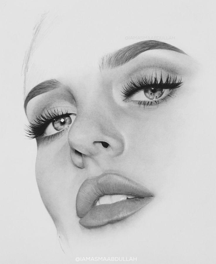 Portrait of Chloe Morello in progress by asma'a abdullah. part4  Stay tuned!  #charcoaldrawing #portrait #art #artist #charcoal  #hyperrealisticart #photorealisticart #chloemorello #mua