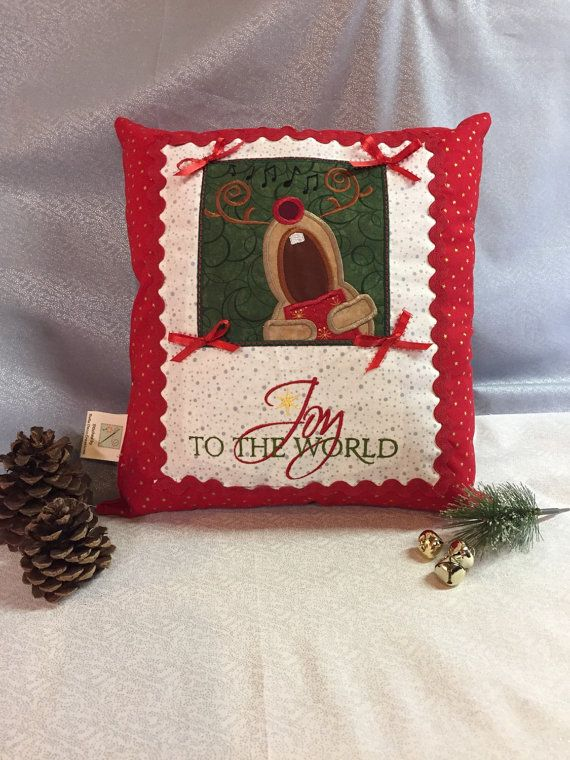 Christmas Singing Reindeer pillow Home Decor by BellaDecoCreations