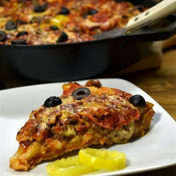 """Chicago-Style Pan Pizza   """"I have made this recipe many, many times and my family loves it."""""""