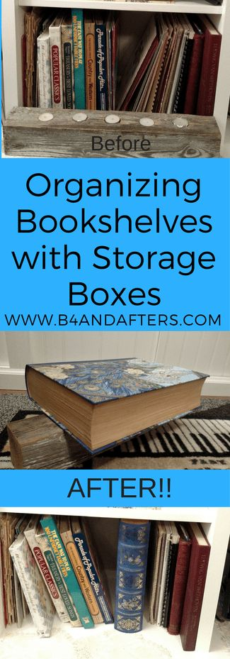 Organizing Bookshelves http://www.b4andafters.com