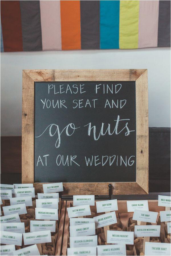 """go nuts"" at our wedding + peanut wedding favors, photo by Hazelwood Photo http://ruffledblog.com/music-themed-portland-wedding #weddingfavors #weddingideas"