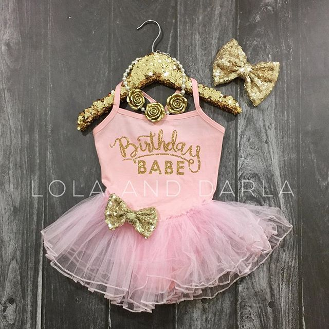 Birthday Babe tutu dresses are back in stock! Quantities are limited! See listing for details. Lolaanddarla.com ✨