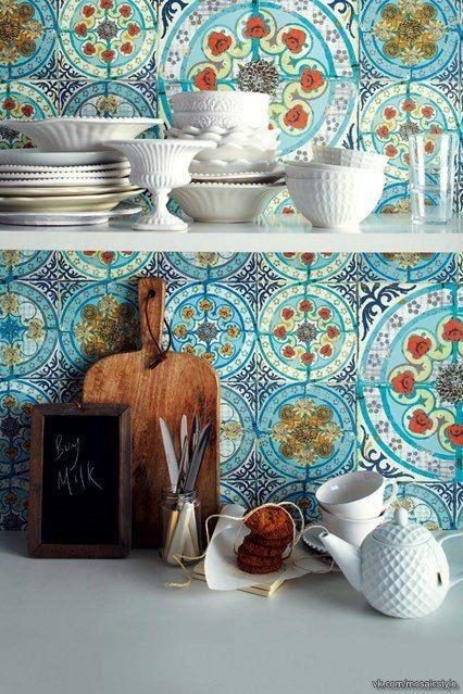 Марокканская плитка в интерьере.