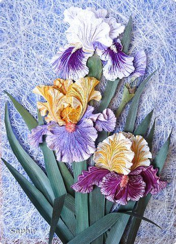 Painting mural drawing March 8 Birthday Paper Quilling IRIS band photo 10