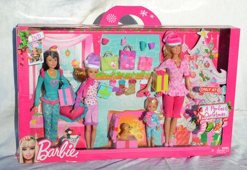 A Perfect Christmas Giftset Barbie Skipper Stacie Chelsea Puppy Sisters Gifts | eBay