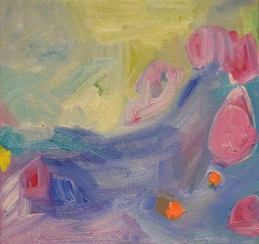 Peaceful Day ll Geraldine Gillingham Oil On Canvas 6x6