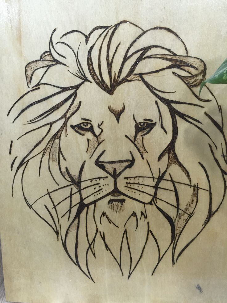 Aslan Lion Ahşap Yakma
