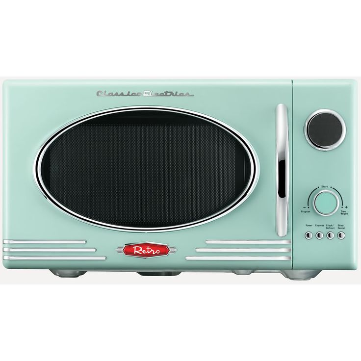 This is fab , if i could have it it would look great in the kitchen . Wilko Retro Microwave Mint 23L