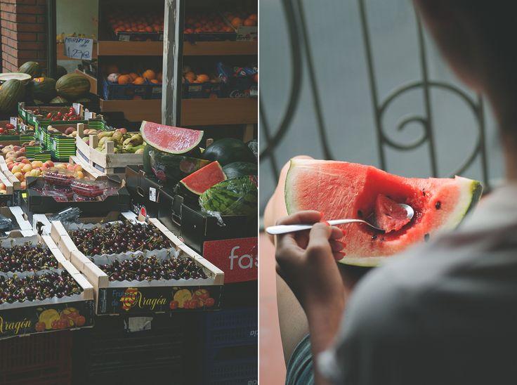 Barcelona świeże owoce