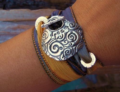 Teen Gift Idea, Silk Wrap Bracelet, Teenager Gift | By HappyGoLicky Jewelry